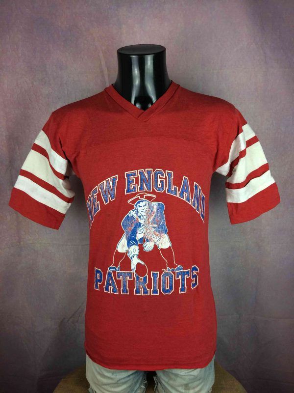 NEW ENGLAND PATRIOTS T-Shirt Logo 7 VTG 80s - Gabba Vintage