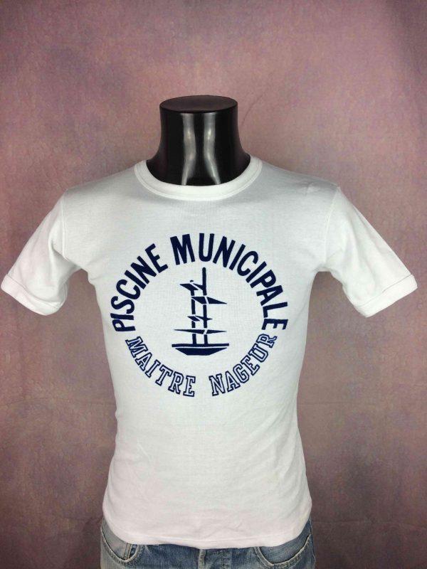 PISCINE MUNICIPALE T-Shirt France VTG 80s - Gabba Vintage
