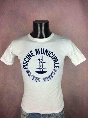 MAITRE NAGEUR T-Shirt Piscine Municipale 80s - Gabba Vintage