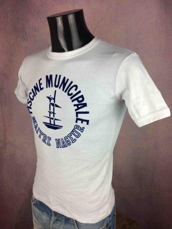 PISCINE MUNICIPALE T Shirt France VTG 80s Gabba Vintage 3 scaled - MAITRE NAGEUR T-Shirt Piscine Municipale 80s