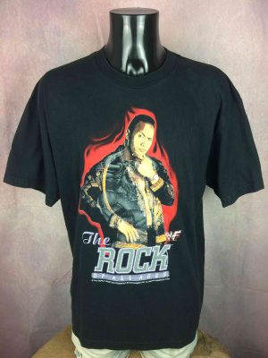 THE ROCK Of All Age T-Shirt Vintage 2000 WWF - Gabba Vintage