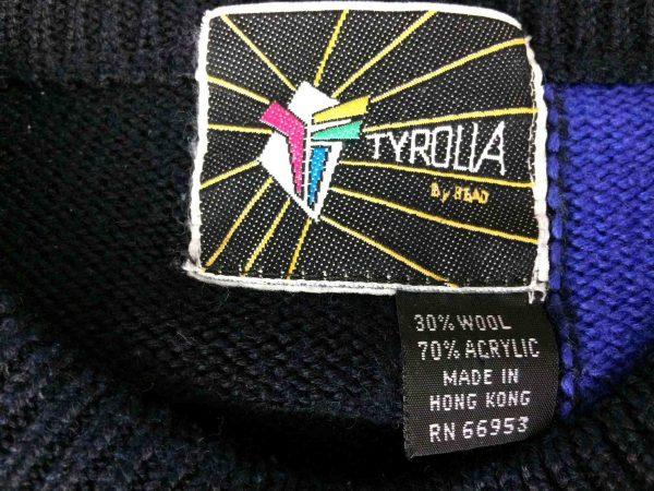 TYROLIA By Head Pullover Vintage 80 30 Wool Gabba Vintage 4 scaled - TYROLIA By Head Pull Vintage 80s Laine Ski