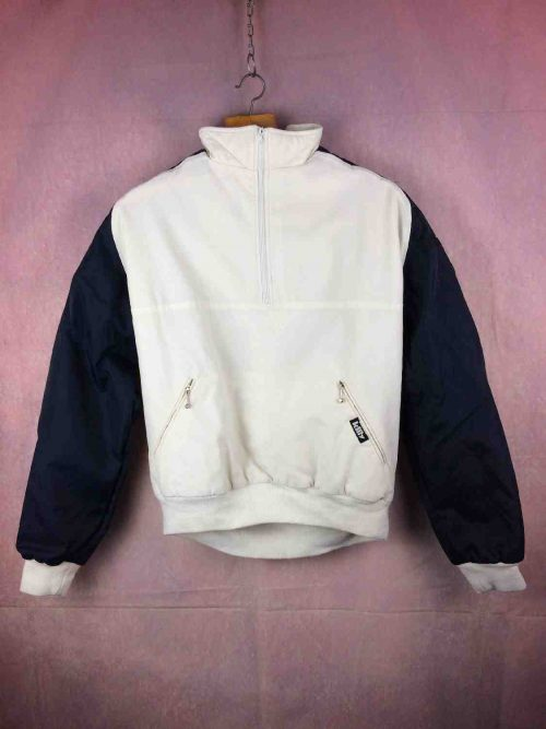 VesteSki Killy Sweatshirt, Zip col, Made in France, Doublé, véritable vintage années 80s, Jacket