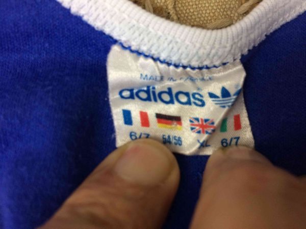 ADIDAS Maillot Vintage 80s Made in France Gabba Vintage 1 scaled - ADIDAS Maillot Vintage 80s Made in France