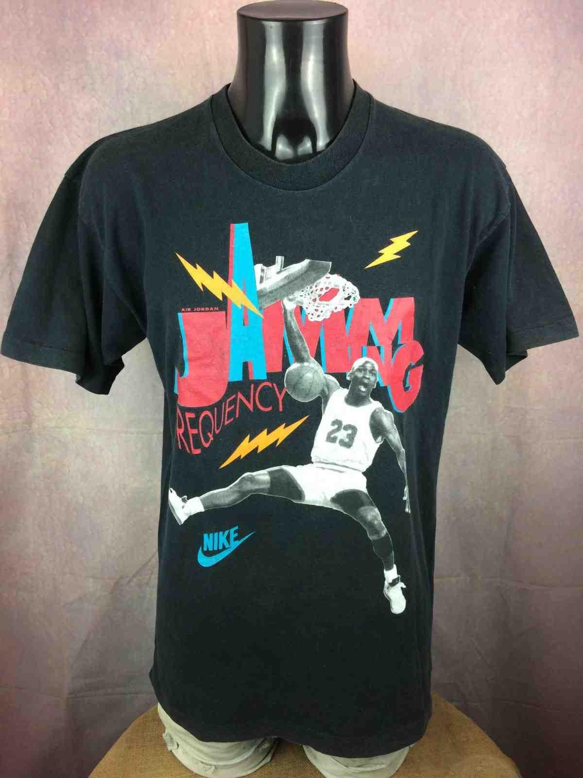 AIR JORDAN T Shirt Nike Jamming Frequency 90 Gabba Vintage