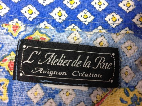 ATELIER DE LA RUE Chemise Avignon France 80s Gabba Vintage 1 scaled - ATELIER DE LA RUE Chemise Vintage 80s France