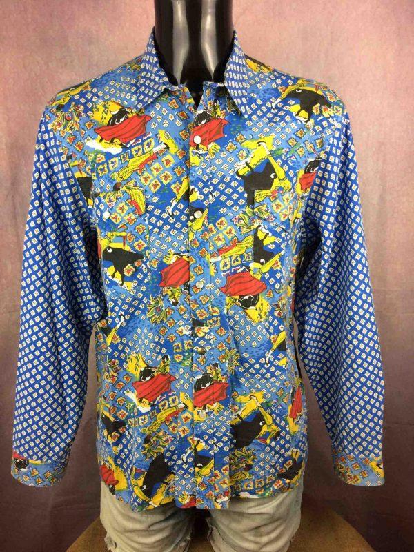 ATELIER DE LA RUE Chemise Avignon France 80s - Gabba Vintage