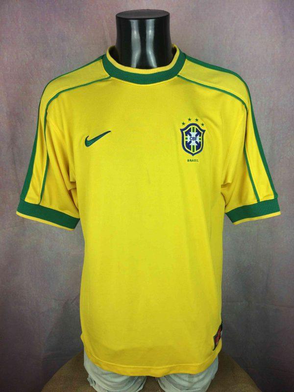 BRAZIL Maillot Vintage 1998 2000 Home Nike - Gabba Vintage