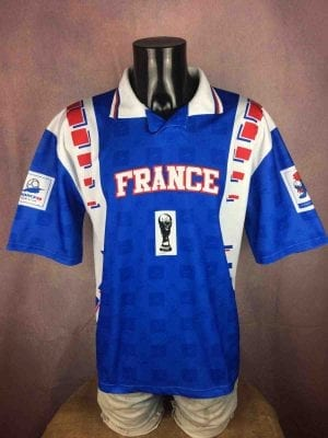 Maillot FRANCE 98, Véritable vintage années 90s,  Licence Officielle, Coupe du Monde World Cup Footix Team FFF Fan Jersey Camiseta Football