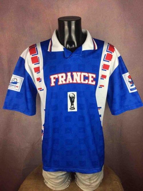 Maillot FRANCE, Véritable vintage années 90s, Licence Officielle, MarqueFrance 98, Taille XL, Couleur Bleu Blanc Rouge, Footix Coupe du Monde Mundial World Cup Team FFF Fan Jersey Football Homme
