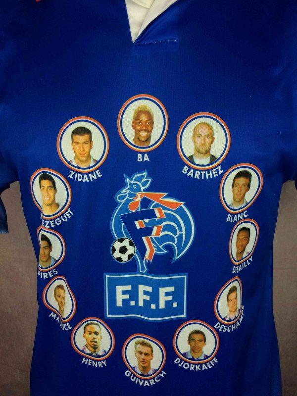 FRANCE Maillot Vintage 1997 1998 FFF Joueurs Gabba Vintage 3 scaled - FRANCE Maillot Vintage 1997 1998 FFF Joueurs