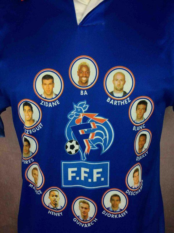 FRANCE Maillot Vintage 1997 1998 FFF Joueurs Gabba Vintage 3 scaled - FRANCE Maillot Vintage 1997 1998 FFF Joueurs Coupe du Monde Football