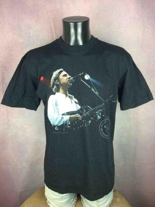 T-Shirt DIRE STRAITS, European Tour 1992On Every Street, double face avec liste des dates, Official License, Véritable vintage années 90s, Concert