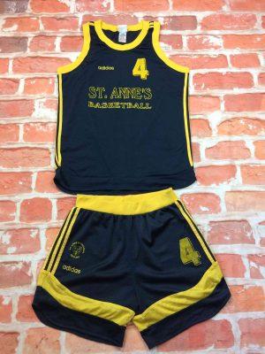 ST ANNE'S BASKETBALL Maillot + Shorts Adidas - Gabba Vintage