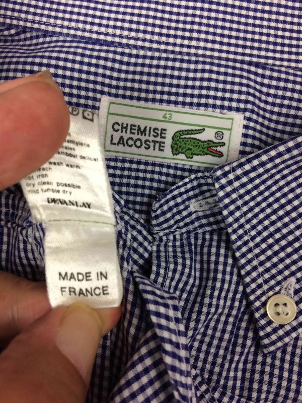 LACOSTE Chemise Made in France Devanlay 90s Gabba Vintage 1 scaled - LACOSTE Chemise Made in France Devanlay 90s