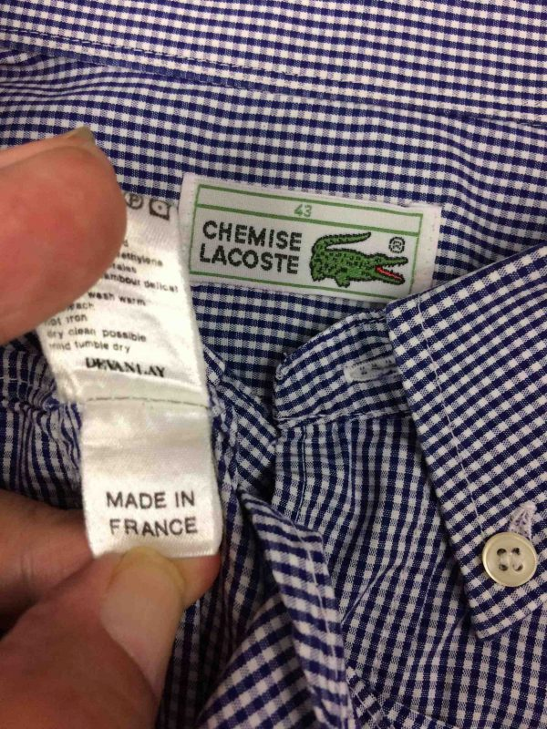 LACOSTE Chemise Made in France Devanlay 90s Gabba Vintage 1 scaled - LACOSTE Chemise Made in France Vintage 90s
