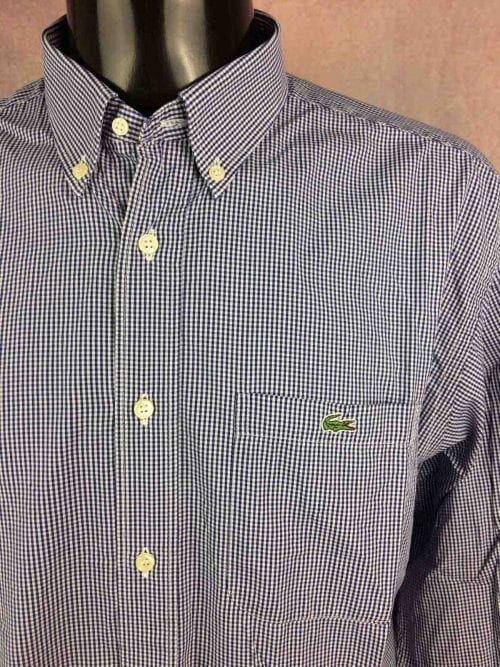 LACOSTE Chemise Made in France Devanlay 90s - Gabba Vintage