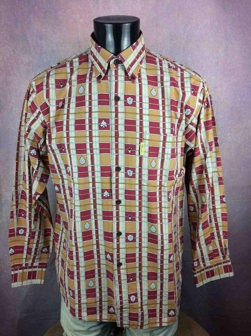 Chemise Provence de marque LES OLIVADES, Made in Provence, Vintage Années 00, Multicolore, Gardian Camargue Sud Feria Shirt Homme