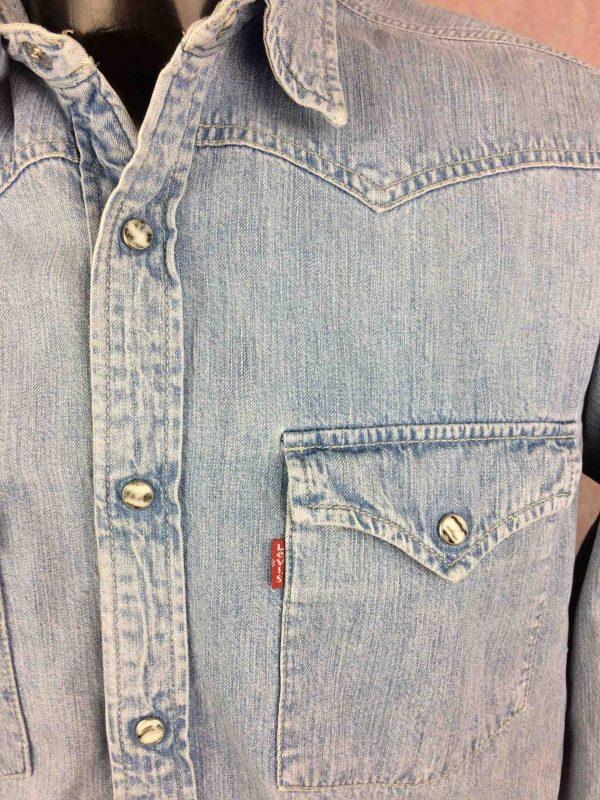 LEVIS Jeans Chemise Vintage 90s Bouton Nacre Gabba Vintage 3 scaled - LEVIS Jeans Chemise Vintage 90s Bouton Nacre