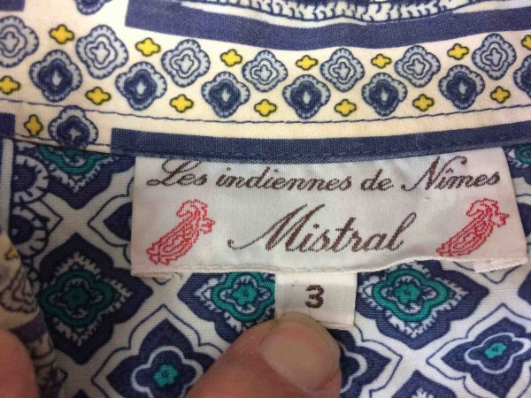 MISTRAL Chemise Indiennes de Nimes Vintage Gabba Vintage 1 scaled - MISTRAL Chemise Nimes Vintage 90s Provence