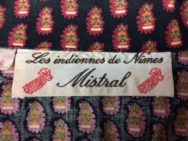 MISTRAL Chemise Les Indiennes de Nimes 80s Gabba Vintage 1 scaled - MISTRAL Chemise Provence Vintage Années 80s