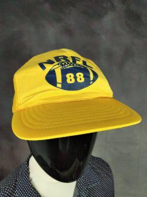 Casquette NRFL 88, Véritable Vintage Année 80s, Taille Unique, Couleurs Jaune - Bleu, National Rugby Football League Mesh Sport Unisexe
