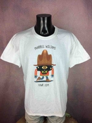 T-Shirt PHARRELL WILLIAMS, édition The Dear Girl Tour 2014, marque Gildan, version rare , Chapeau Concert