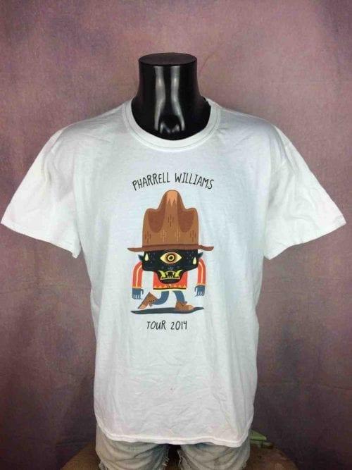 T-Shirt PHARRELL WILLIAMS, édition The Dear Girl Tour 2014, marque Gildan, version rare , Chapeau Concert