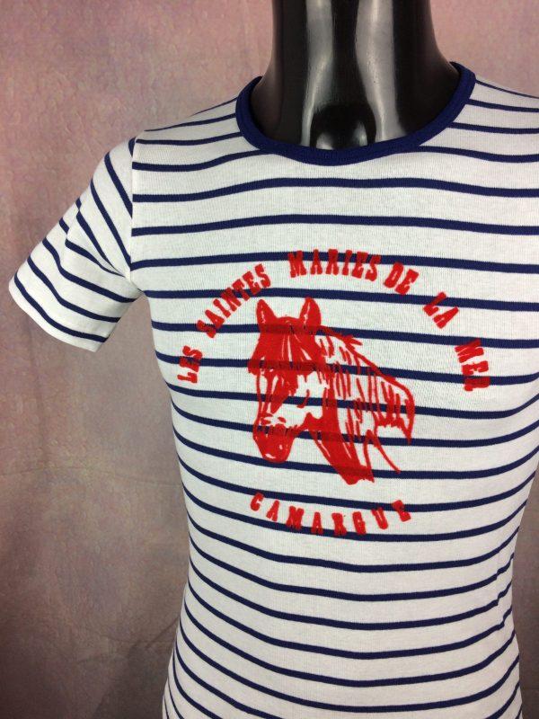 SAINTES MARIES DE LA MER T Shirt Vintage 80s Gabba Vintage 3 rotated - SAINTES MARIES DE LA MER T-Shirt Vintage 80s