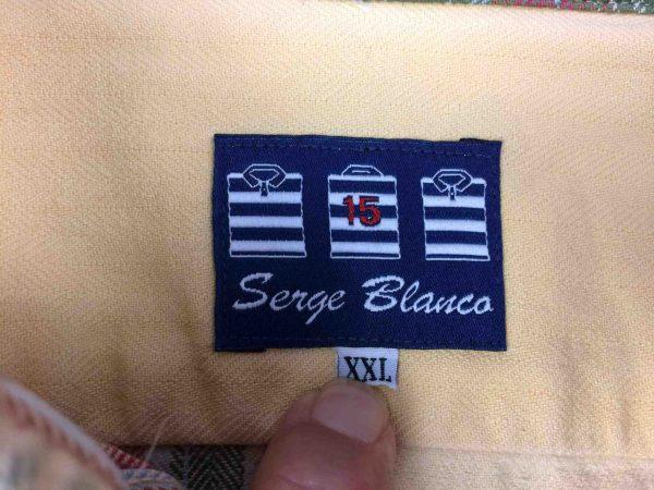 SERGE BLANCO Chemise Vintage 90s Plaid Rugby Gabba Vintage 1 scaled - SERGE BLANCO Chemise Vintage années 90s Rugby