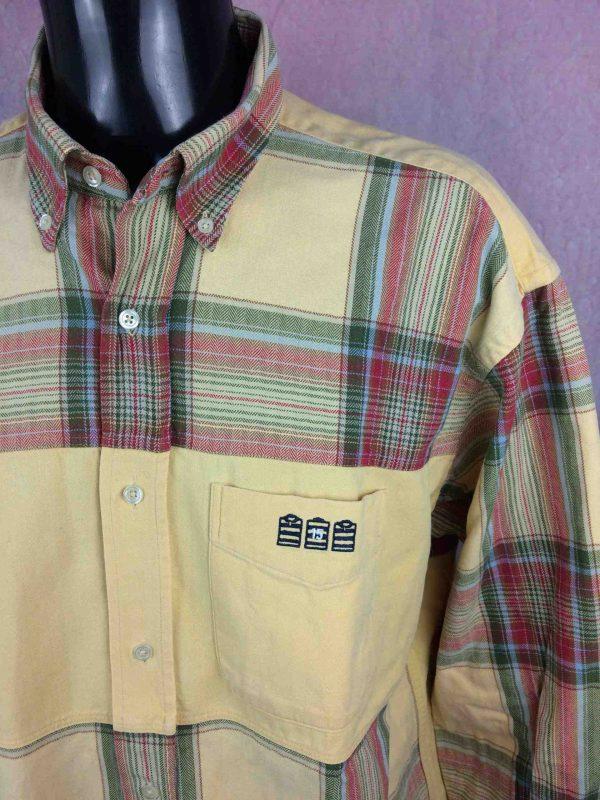 SERGE BLANCO Chemise Vintage 90s Plaid Rugby Gabba Vintage 3 scaled - SERGE BLANCO Chemise Vintage années 90s Rugby