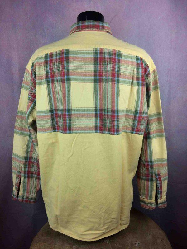 SERGE BLANCO Chemise Vintage 90s Plaid Rugby Gabba Vintage 5 scaled - SERGE BLANCO Chemise Vintage années 90s Rugby