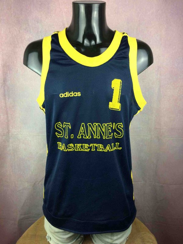 ADIDAS Maillot #1 St Anne's Vintage 90s USA - Gabba Vintage