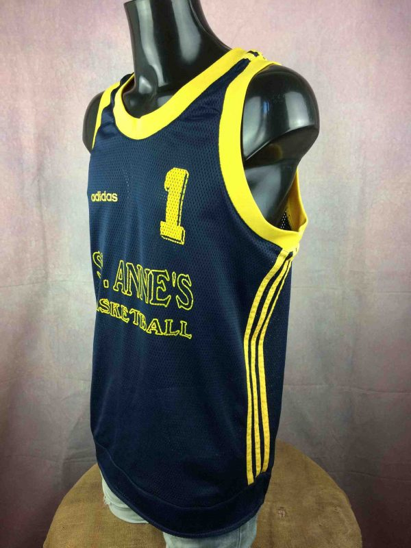 ST ANNES BASKETBALL Maillot 1 Adidas 90s Gabba Vintage 3 scaled - ADIDAS Maillot #1 St Anne's Vintage 90s USA