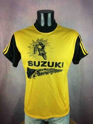 SUZUKI Maillot Vintage 80 Viking Made in USA - Gabba Vintage