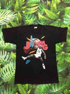 T-Shirt AIR JORDAN Vintage, Marque Nike, Série Jamming Frequency, N° 23, véritable années 90s, Made in Ireland, Basketball NBA USA Chicago Bulls
