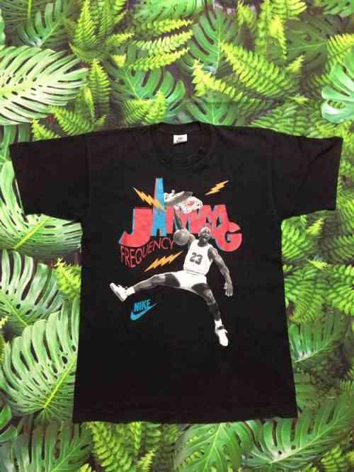 T-Shirt AIR JORDAN Vintage, Marque Nike, Série Jamming Frequency, N° 23, véritable années 90s, Made in Ireland, Basketball NBA USA Chicago Bulls