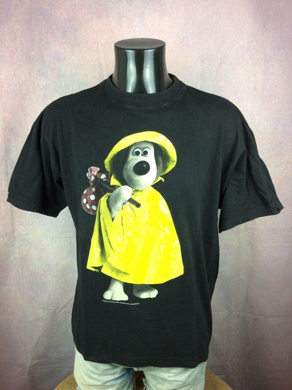 WALLACE & GROMIT T-Shirt Vintage 1989 BBC - Gabba Vintage