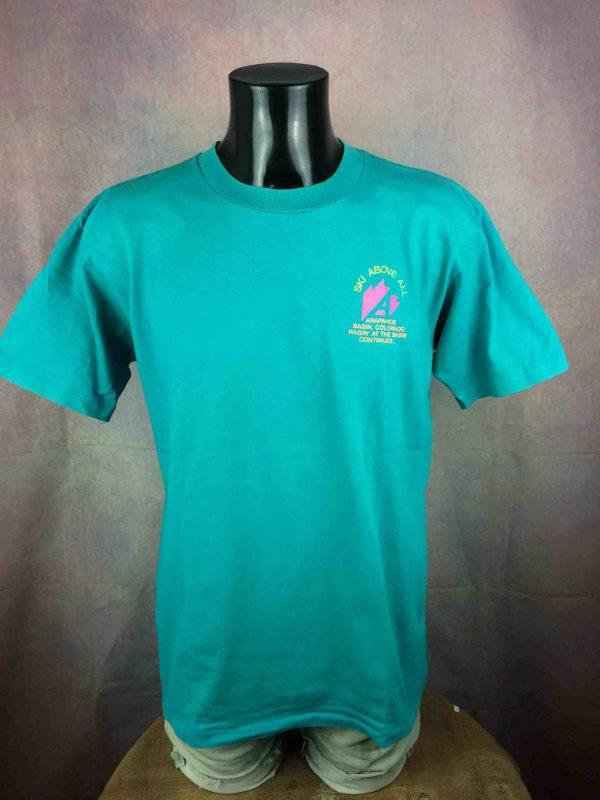 ARAPAHOE BASIN T Shirt Made in USA VTG 80s Gabba Vintag 2 scaled - ONEITA T-Shirt Arapahoe Basin Vintage 80s USA