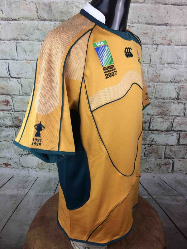 AUSTRALIA Maillot World Cup 2007 Home VTG Gabba Vintage 4 scaled - AUSTRALIA Maillot World Cup 2007 Canterbury