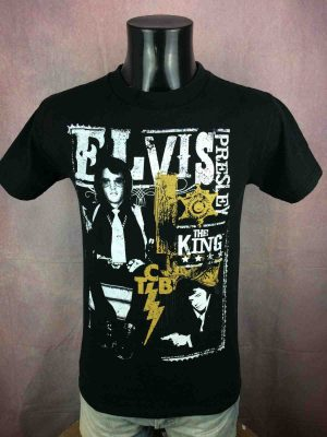 T-Shirt ELVIS PRESLEY, édition The King, Official License, marque Zion Rootswear, Vintage 00s, Sheriff Gun Rock Concert