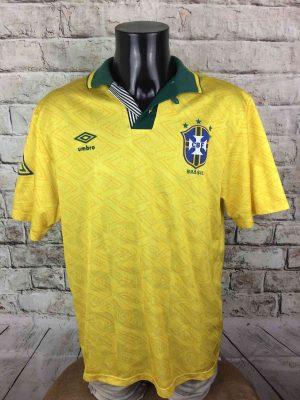 BRAZIL Maillot 1991 1993 Home Umbro Vintage - Gabba Vintage