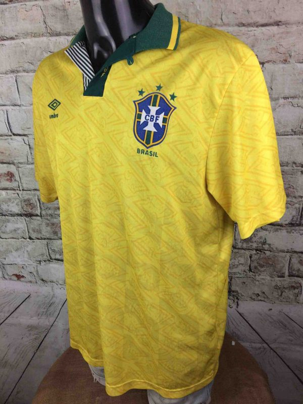 IMG 7463 compressed scaled - BRESIL Maillot 1991 1993 Home Umbro Vintage Années 90 Brazil CBF Selecao Football