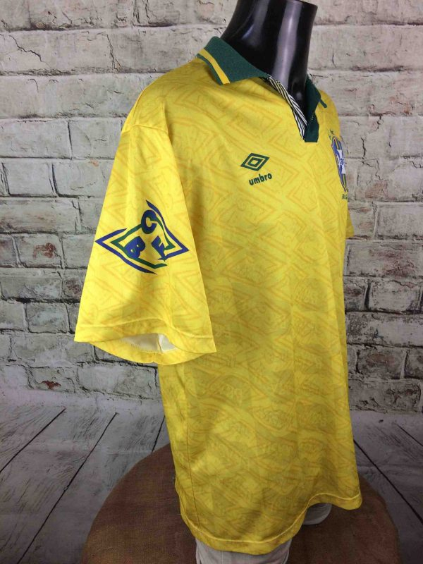 IMG 7464 compressed scaled - BRAZIL Maillot Vintage 1991 1993 Home Umbro