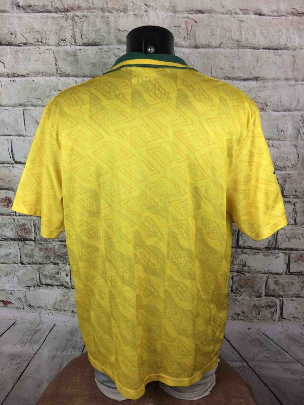 IMG 7465 compressed scaled - BRESIL Maillot 1991 1993 Home Umbro Vintage Années 90 Brazil CBF Selecao Football