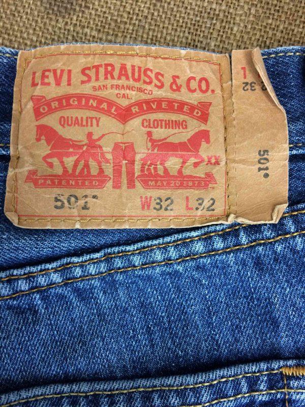 LEVI STRAUSS 501 Vintage W32 L32 Mid Blue Gabba Vintage 1 scaled - LEVI STRAUSS 501 Vintage W32 L32 Mid Blue 3