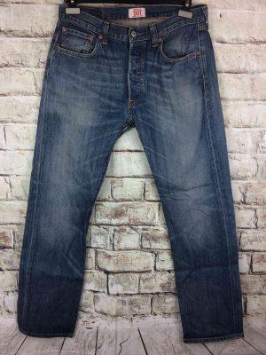LEVI STRAUSS 501 Vintage W34 L34 Mid Blue 4 - Gabba Vintage (1)