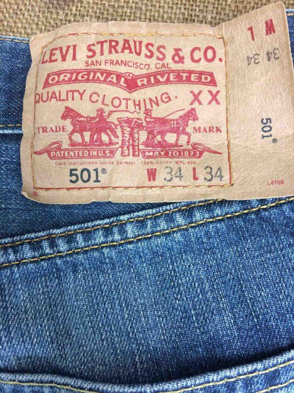 LEVI STRAUSS 501 Vintage W34 L34 Mid Blue 4 Gabba Vintage 5 scaled - LEVI STRAUSS 501 Vintage W34 L34 Mid Blue 4