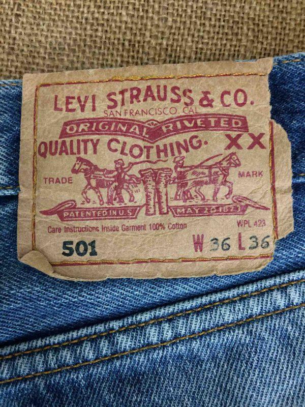 LEVI STRAUSS 501 Vintage W36 L36 Mid Blue Gabba Vintage 1 scaled - LEVI STRAUSS 501 Vintage W36 L36 Mid Blue 2