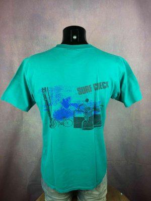 OCEAN PACIFIC T-Shirt Vintage 80s Surf Check - Gabba Vintage